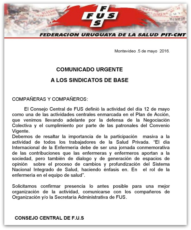 Comuncado a Sindicatos de base  05.05.2016-1
