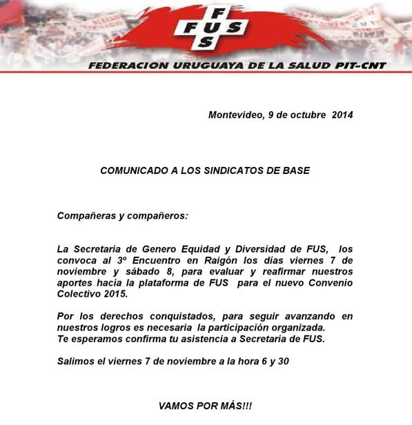 COMUNICADO A LOS  SINDICATOS DE BASE 09.10.14 (1)-1
