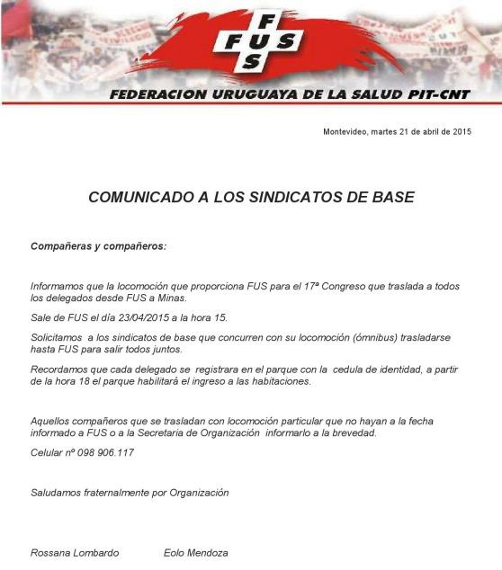 comunicado sindicatos de base 21.04.15 2