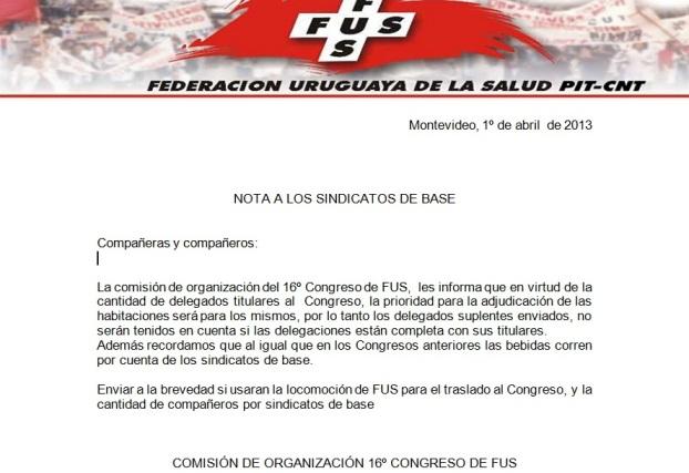 organizacion congreso fus1